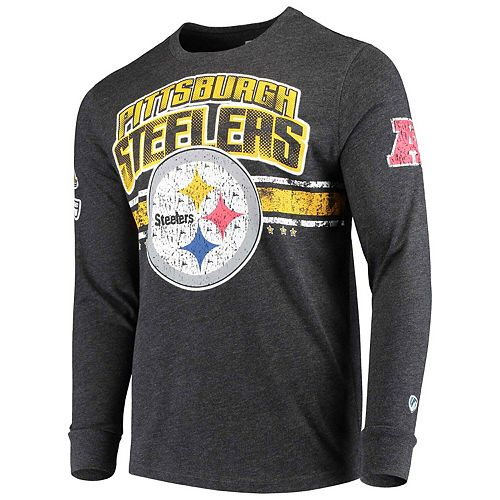 Men's G-III Extreme Black Pittsburgh Steelers Extreme Jump Shot Long Sleeve T-Shirt
