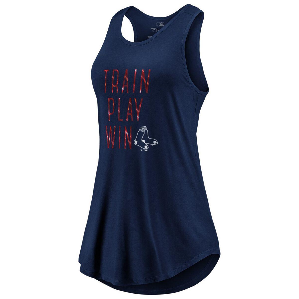 Women's Fanatics Branded Navy Boston Red Sox Train, Play, Win Tank Top M5gjH