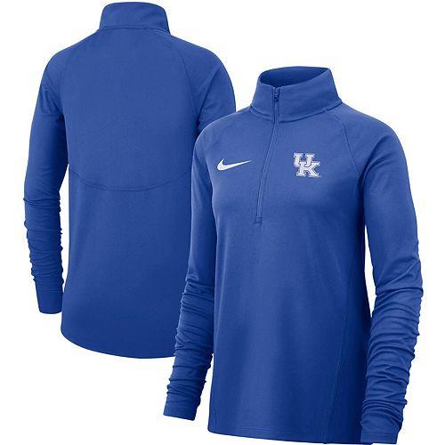 Women's Nike Royal Kentucky Wildcats Element Essential Performance Half-Zip Pullover Jacket