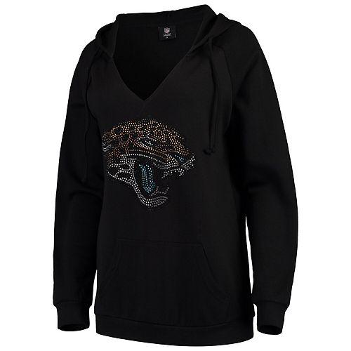 Women's Cuce Black Jacksonville Jaguars Huddle Up Pullover Hoodie