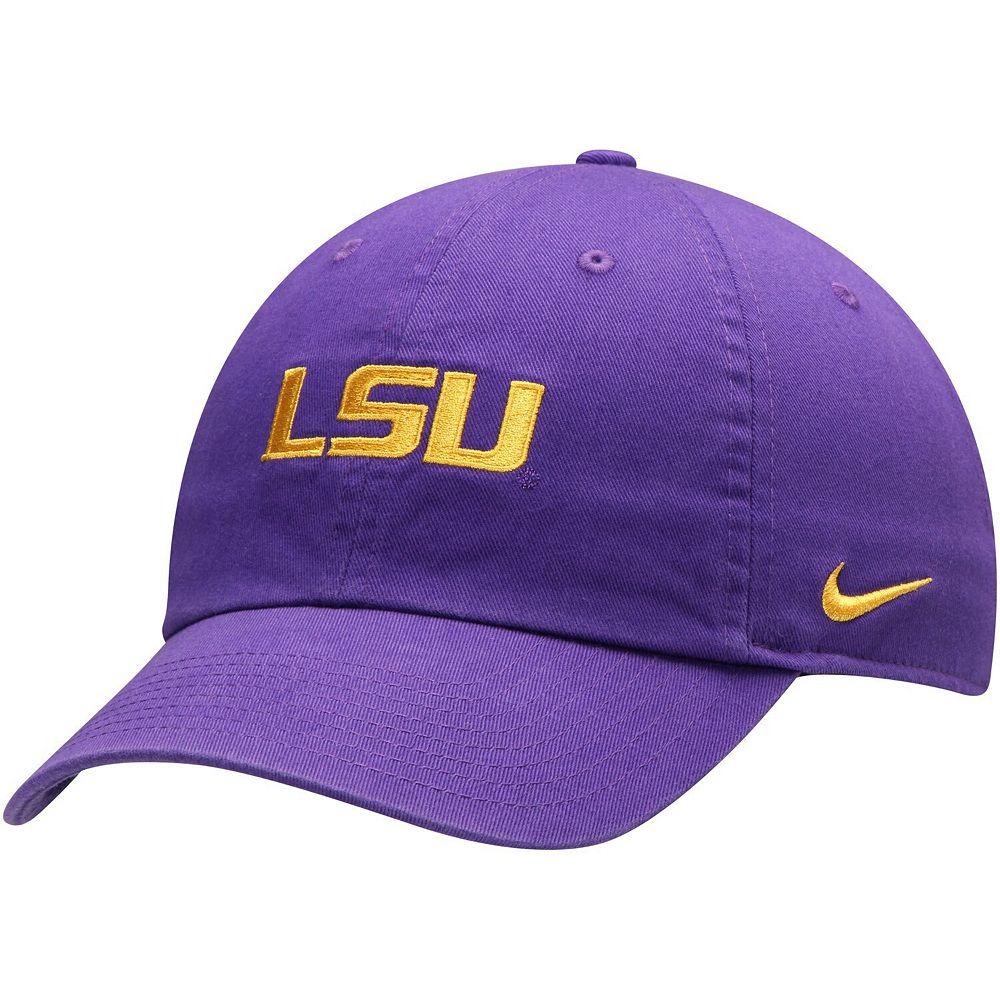 Men's Nike Purple LSU Tigers Heritage 86 Logo Performance Adjustable Hat