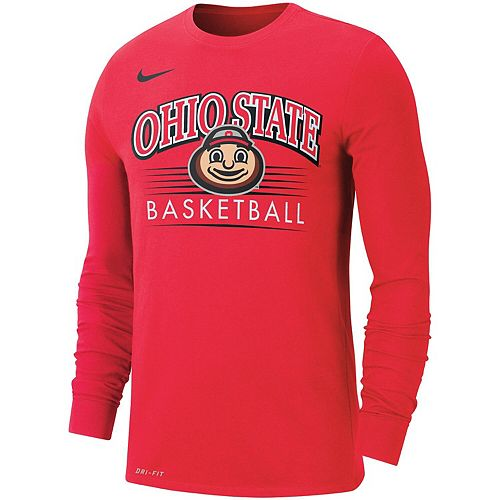 Men S Nike Scarlet Ohio State Buckeyes Basketball Retro Arch