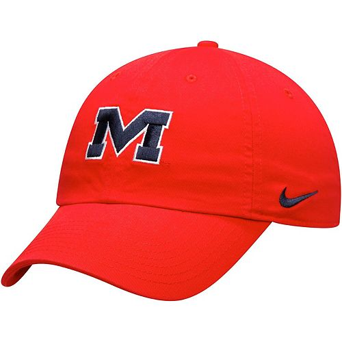 Men's Nike Red Ole Miss Rebels Alternate Logo Heritage 86 Adjustable Hat