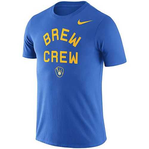 Men's Nike Royal Milwaukee Brewers MLB Brew Crew Local Phrase T-Shirt