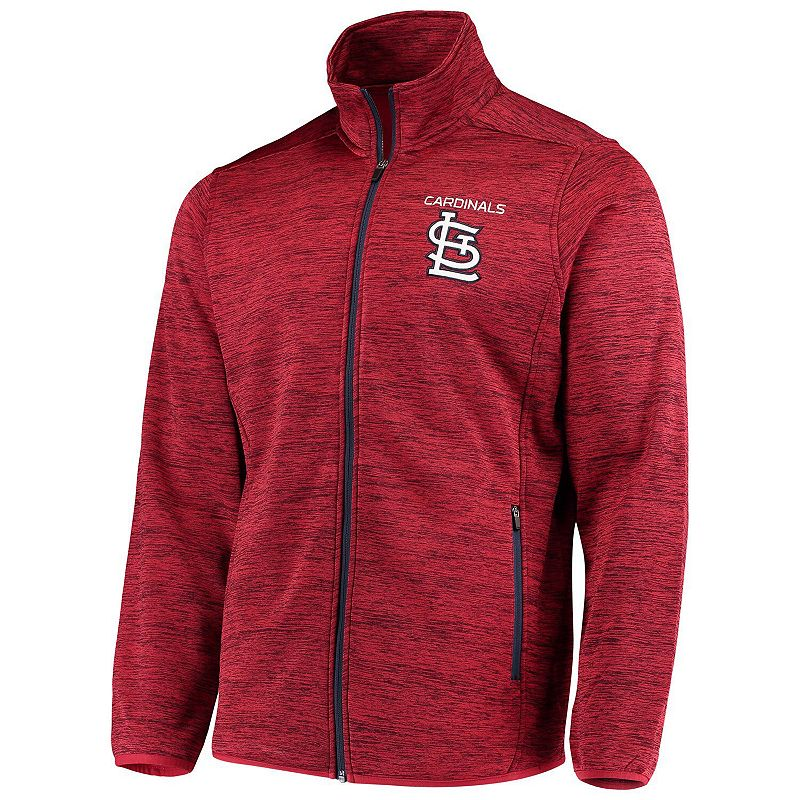 Men's G-III Sports by Carl Banks Red St. Louis Cardinals High Jump Transitional Full-Zip Jacket. Size: Small