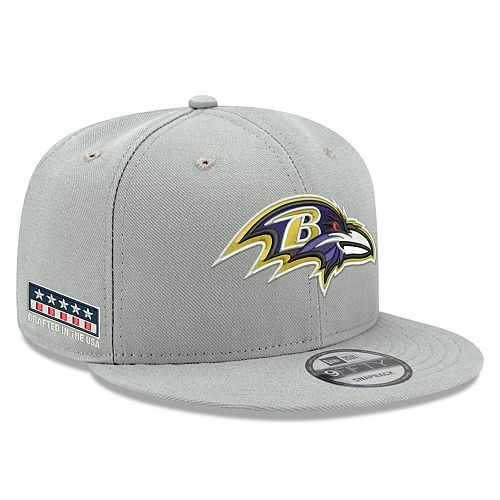Men's New Era Gray Baltimore Ravens Crafted in the USA 9FIFTY Adjustable Hat