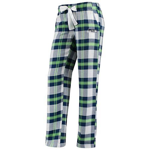 Women's Concepts Sport College Navy Seattle Seahawks Plus Size Headway Plaid Pants