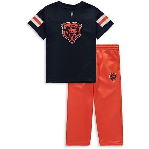 Toddler Navy/Orange Chicago Bears Training Camp Pants & T-Shirt Set
