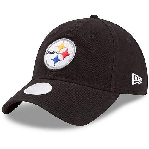 Women's New Era Black Pittsburgh Steelers Core Classic Primary 9TWENTY Adjustable Hat