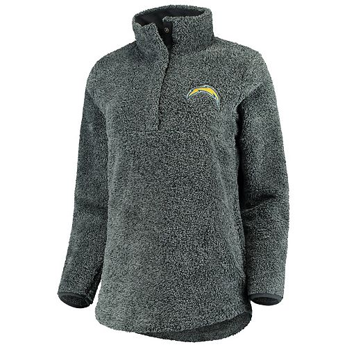 Women's Concepts Sport Charcoal Los Angeles Chargers Trifecta Snap-Up Jacket
