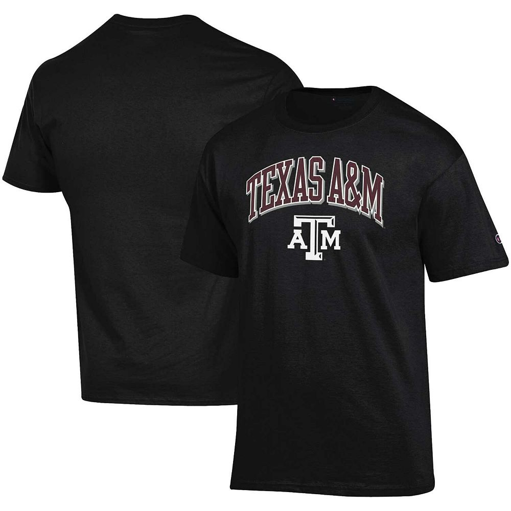 Men's Champion Black Texas A&M Aggies Arch Over Logo T-Shirt