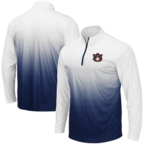 Men's Colosseum Navy Auburn Tigers Magic Team Logo Quarter-Zip Jacket