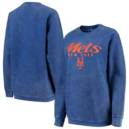 Women's G-III 4Her by Carl Banks Royal New York Mets Comfy Cord Pullover Sweatshirt