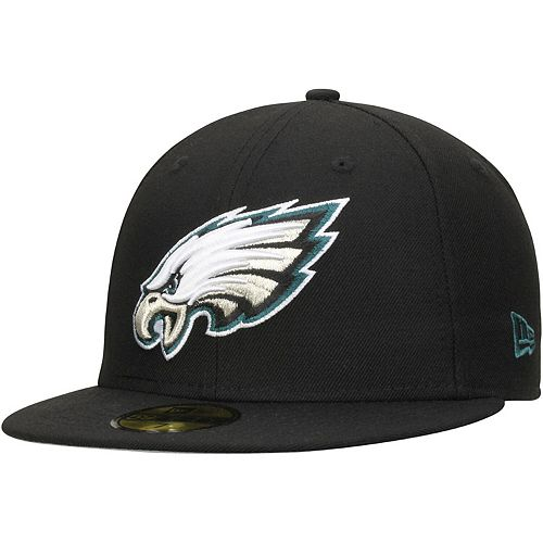 Men's New Era Black Philadelphia Eagles Omaha 59FIFTY Fitted Hat