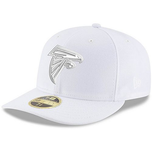 Men's New Era Atlanta Falcons White on White Low Profile 59FIFTY Fitted Hat