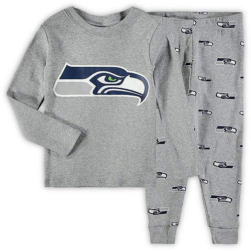 Toddler Heathered Gray Seattle Seahawks Sleep Set