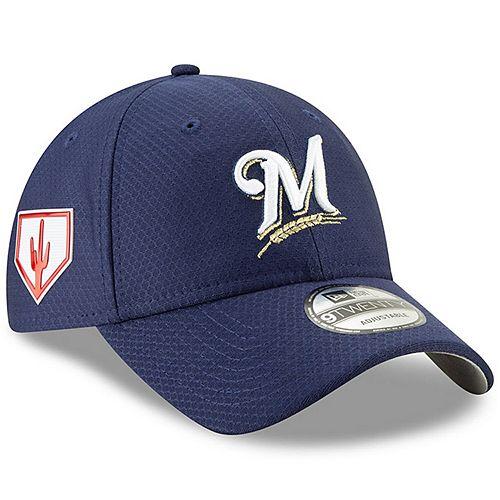 Men's New Era Blue Milwaukee Brewers 2019 Spring Training 9TWENTY Adjustable Hat