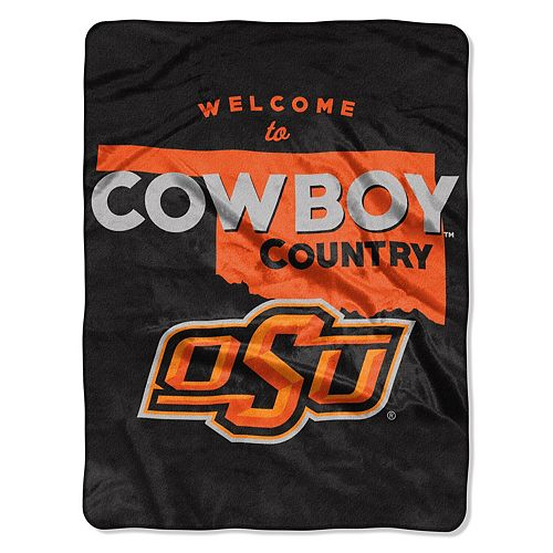 "The Northwest Company Oklahoma State Cowboys 60"" x 80"" Welcome Silk Touch Throw Blanket"