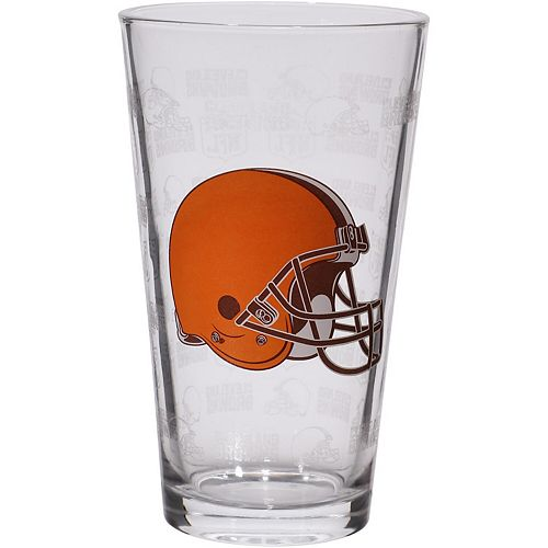Cleveland Browns 16oz. Sandblasted Mixing Glass