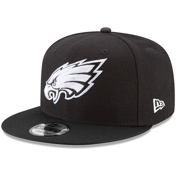 Men's New Era Black Philadelphia Eagles B-Dub 9FIFTY Adjustable Hat