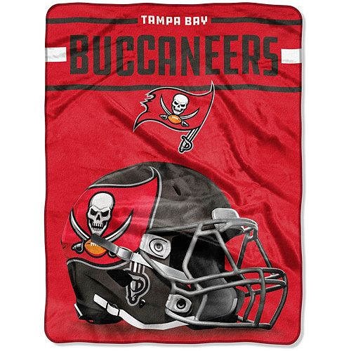 "The Northwest Company Tampa Bay Buccaneers 60"" x 80"" Jet Sweep Silk Touch Throw Blanket"