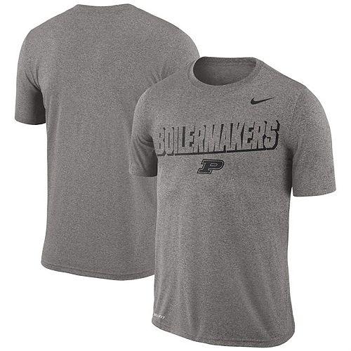 Men's Nike Heathered Gray Purdue Boilermakers Legend Lift Performance T-Shirt