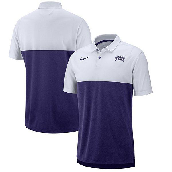 TCU Horned Frogs Nike 2019 Early Season Coaches Polo - White/Purple