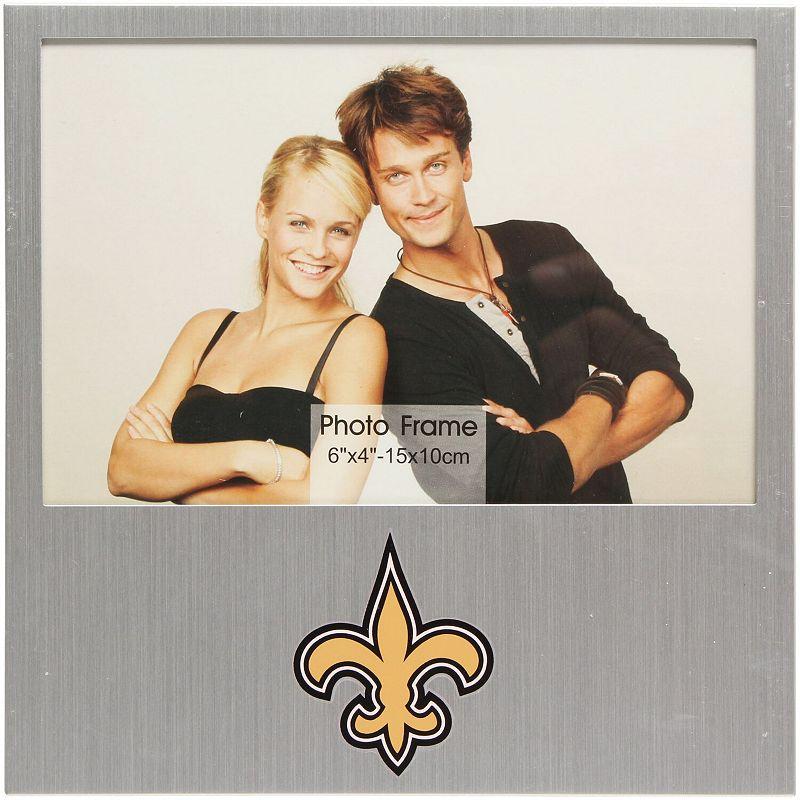 """""""New Orleans Saints 4"""""""" x 6"""""""" Aluminum Picture Frame. Multicolor"""""""
