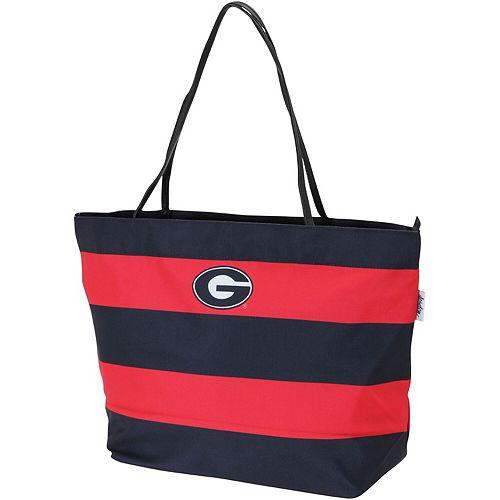 Georgia Bulldogs Game Day Rugby Striped Tote Bag