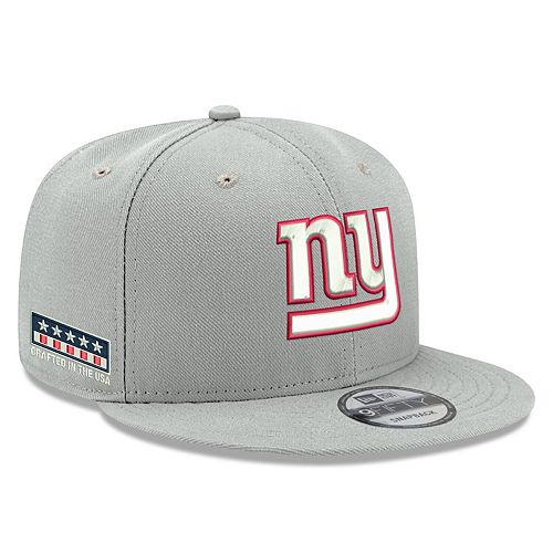 Men's New Era Gray New York Giants Crafted in the USA 9FIFTY Adjustable Hat