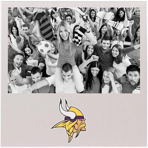 """Minnesota Vikings 4"""" x 6"""" Aluminum Picture Frame"""