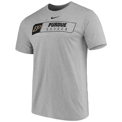 Men's Nike Heathered Gray Purdue Boilermakers Soccer Primary Sport Logo Performance T-Shirt