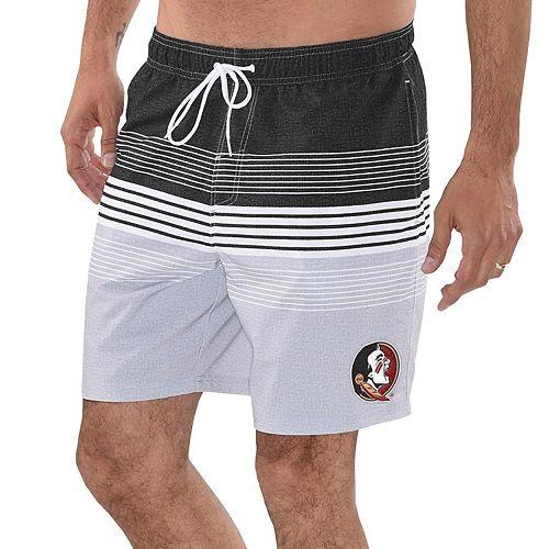 Men's G-III Sports by Carl Banks Black Florida State Seminoles Warm Up Volley Swim Short