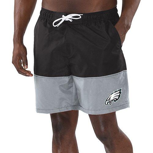 Men's G-III Sports by Carl Banks Black/Gray Philadelphia Eagles Anchor Volley Swim Trunks