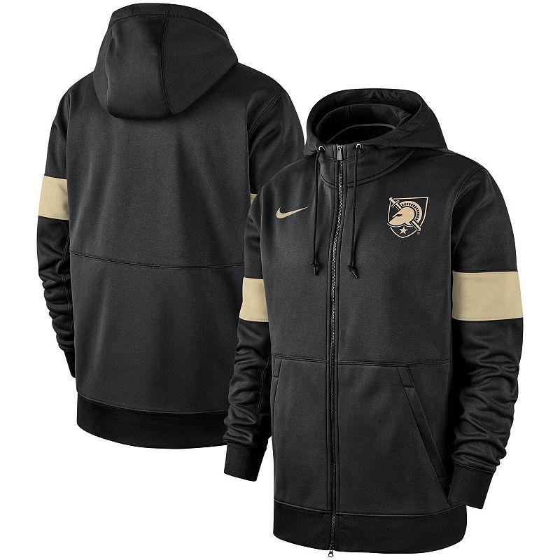 Men's Nike Black Army Black Knights 2019 Sideline Performance Full-Zip Hoodie. Size: Medium