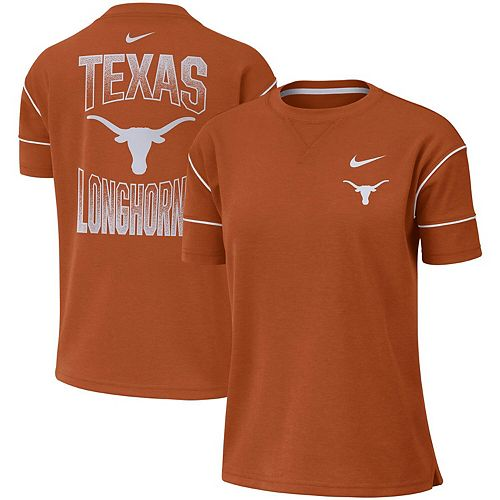 Women's Nike Texas Orange Texas Longhorns Double Knit Fashion Performance T-Shirt