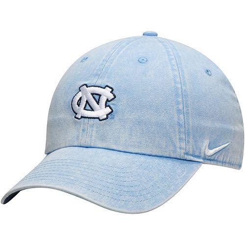 Men's Nike Carolina Blue North Carolina Tar Heels Washed Heritage 86 Adjustable Hat
