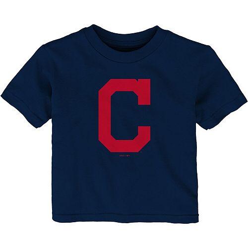 Infant Navy Cleveland Indians Team Primary Logo T-Shirt