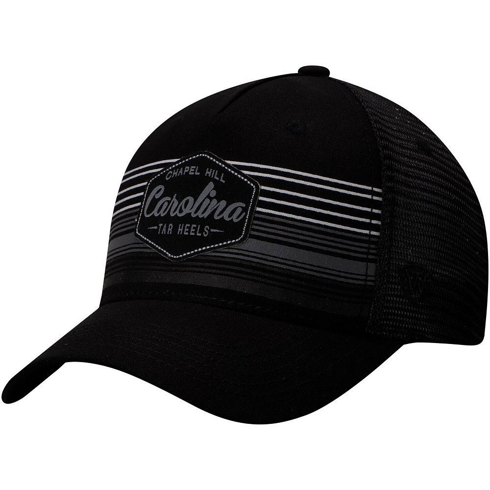 Men's Top of the World Black North Carolina Tar Heels Frequency Trucker Adjustable Hat
