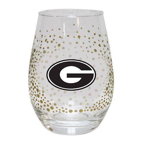 Georgia Bulldogs Glitter Stemless Tumbler