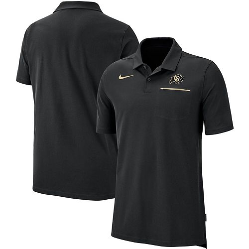 Men's Nike Black Colorado Buffaloes 2019 Elite Coaches Sideline Polo