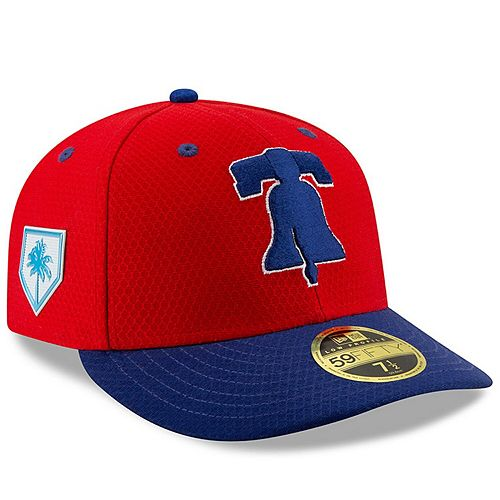 Men's New Era Red/Blue Philadelphia Phillies 2019 Spring Training Low Profile 59FIFTY Fitted Hat