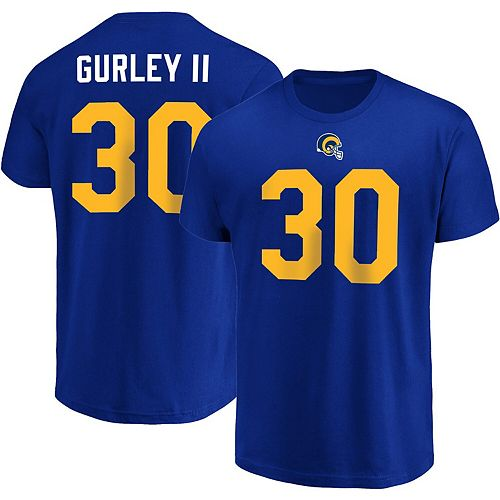 half off 835d3 4a8a2 Men's Majestic Todd Gurley II Royal Los Angeles Rams ...
