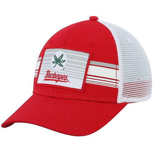 Ohio State Buckeyes Top of the World Breeze Trucker Adjustable Hat - Scarlet