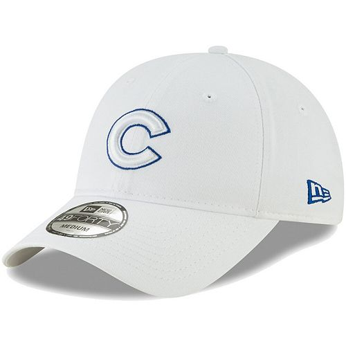 Men's New Era White Chicago Cubs Core Pop 49FORTY Fitted Hat