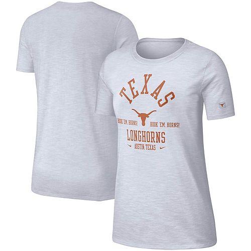 Women's Nike White Texas Longhorns Cotton Slub Performance T-Shirt