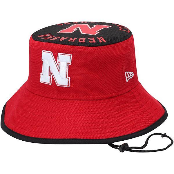 Men's New Era Scarlet Nebraska Cornhuskers Bold Bucket Hat
