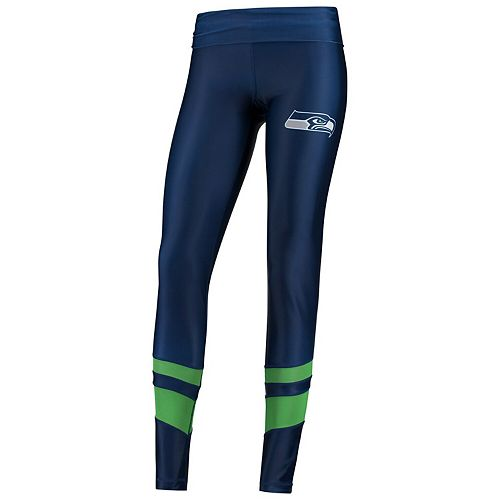 Women's Concepts Sport College Navy/Neon Green Seattle Seahawks Spellbind Mesh Leggings