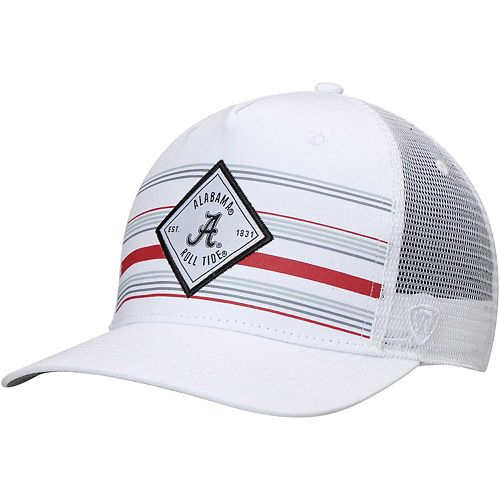 Men's Top of the World White Alabama Crimson Tide 36th Ave Trucker Adjustable Hat