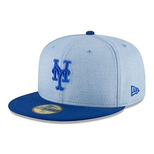 Men's New Era Light Blue New York Mets 2018 Father's Day On Field 59FIFTY Fitted Hat